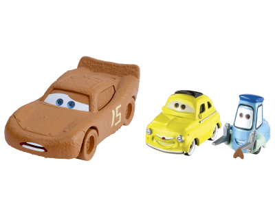 Disney Cars 3 - McQueen as Chester Whipplefilter & Luigi & Guido- diecast