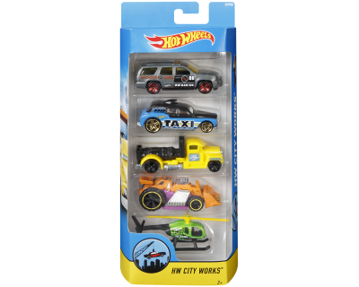 Hot Wheels Auto's pack 5 - HW City Works