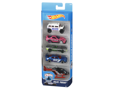 Hot Wheels Auto's pack 5 - Police Pursuit