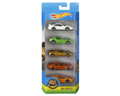 Hot Wheels Auto's pack 5 - HW Exotics -1