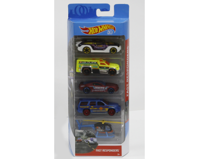 Hot Wheels Auto's pack 5 - Fast Responders