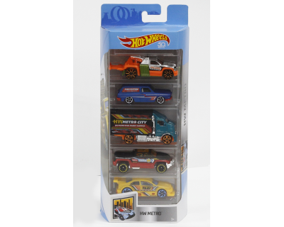 Hot Wheels Auto's pack 5 - HW Metro