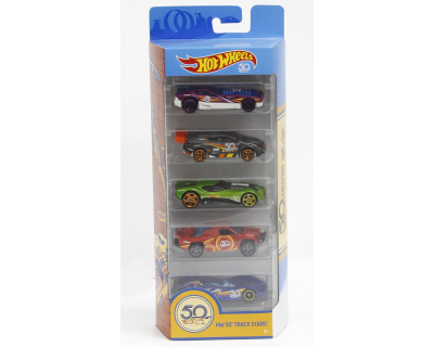 Hot Wheels Auto's pack 5 - HW 50th Track Stars