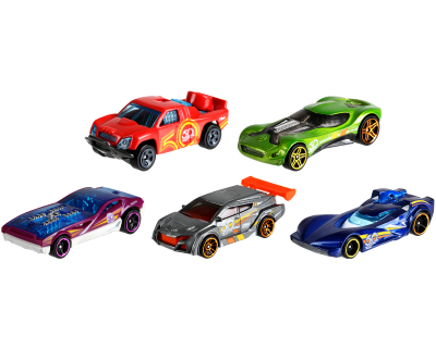 Hot Wheels Auto's pack 5 - Trackstars