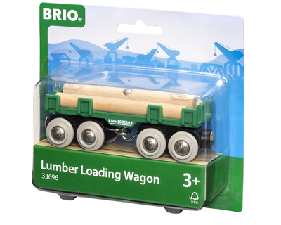 33696 BRIO Trein Houttransport wagon