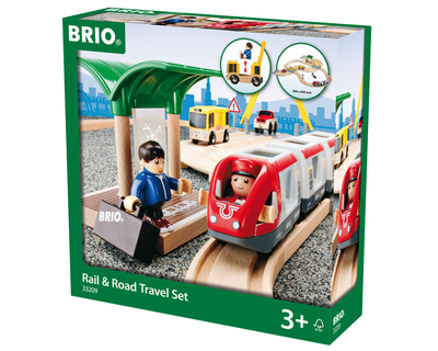33209 BRIO Trein Rail & Road Travelset