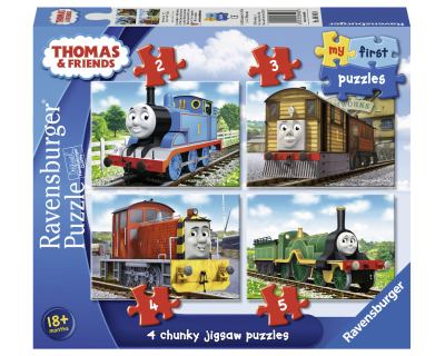 Thomas de Trein puzzel 4 in 1 puzzels salty (my first puzzles)