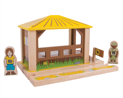 BJT276 Bigjigs trein - Safari Outpost