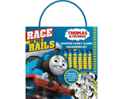 Thomas de trein inkleur boek -back on the rails