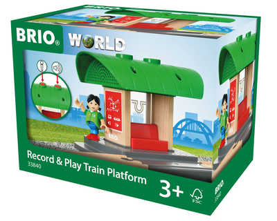 33840 BRIO Trein Record & Play Treinstation