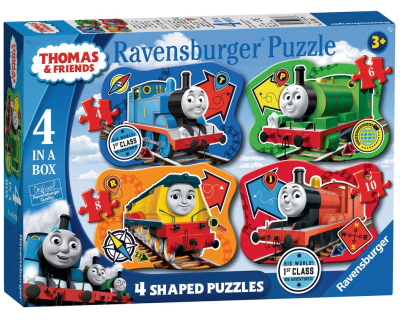 Thomas de Trein puzzel 4 in 1 Shaped Puzzels